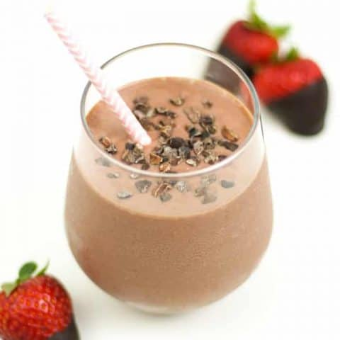 Start the day right with a Vegan Chocolate Covered Strawberry Smoothie! Creamy and smooth, this breakfast beverage stars Silk Dairy-Free Yogurt Alternative and it's the perfect addition to your morning routine. (via feastandwest.com)