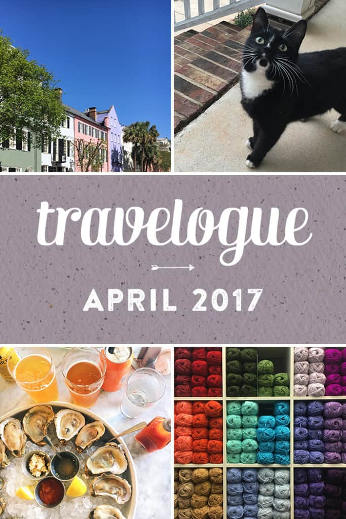 The 2017 April Travelogue from Feast + West, including explorations in Charleston, South Carolina, drinks, books, kitchenware and other spring happenings. Stop by the blog today to see the full list of things I did, ate, drank and saw in April 2017, plus a few things on my wishlist. (via feastandwest.com)