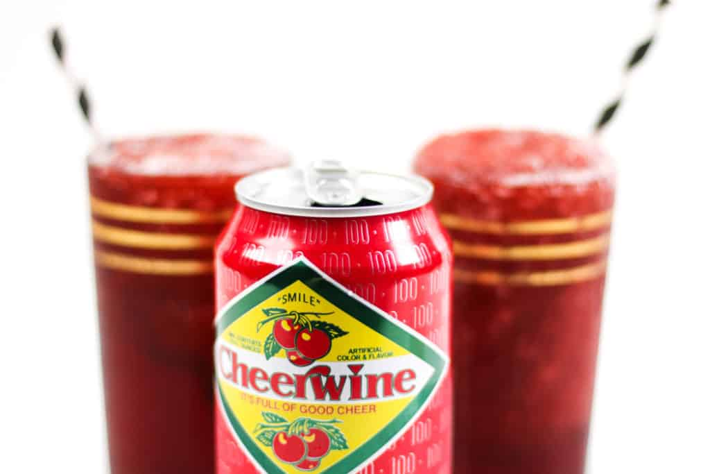 Kick off summertime with a batch of cherry red Cheerwine Bourbon Slushies. Make ice cubes from this famous North Carolina soda and blend them with your favorite American whiskey for a true patriotic treat. (via feastandwest.com)