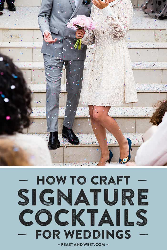 Today I'm sharing how I help my friends dream up and craft signature cocktails for weddings! A cute cocktail makes your day more memorable, and it can be meaningful, too. Read on to learn how I do it! (via feastandwest.com)