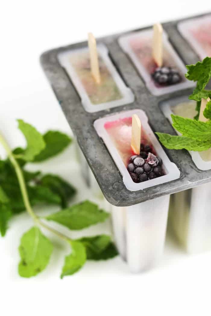 Soak up the sun and rum with a batch of Blackberry Mojito Popsicles. They're a boozy, zesty, frozen treat starring fresh blackberries, lime, mint and rum.(via feastandwest.com)