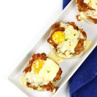 Shakshuka Eggs Benedict