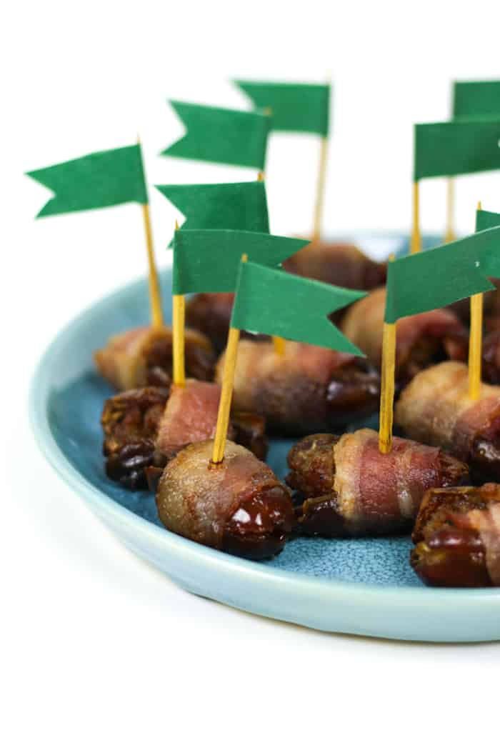Make tailgating better with a batch of Chorizo Stuffed Bacon Wrapped Dates! They're an easy appetizer you can make for a crowd on game day or any gathering. (via feastandwest.com)
