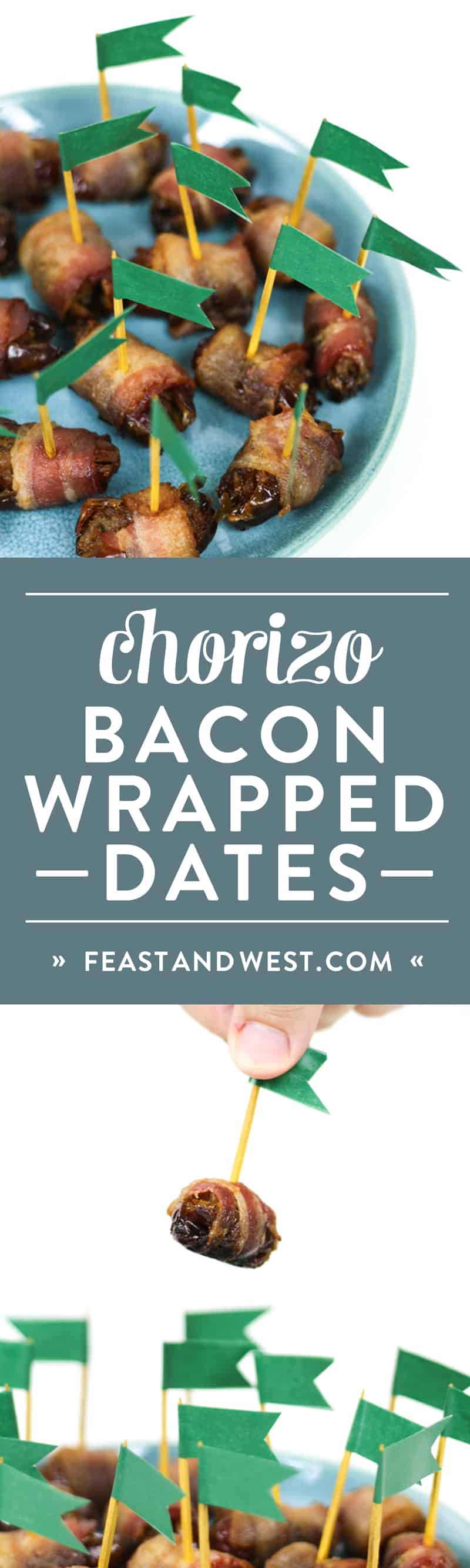 Make tailgating better with a batch of Chorizo Stuffed Bacon Wrapped Dates! They're an easy appetizer you can make for a crowd on game day or any gathering.(via feastandwest.com)