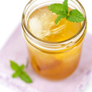 Ginger Peach Bourbon Smash