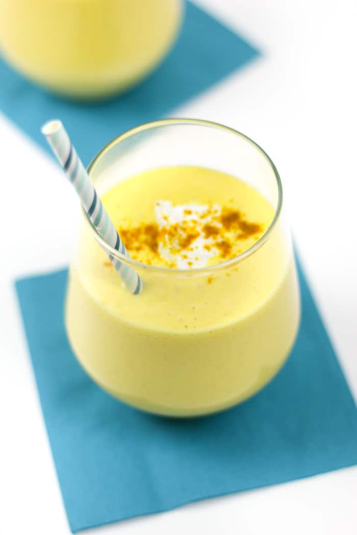 Sweet and savory at once, kick off your morning with a Mango Lassi Smoothie. Inspired by a popular Indian beverage, this liquid breakfast is the best way to start the day. (via feastandwest.com)