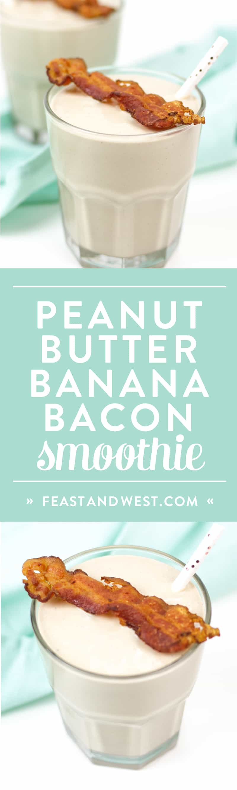 Peanut Butter Banana Bacon Elvis Smoothie
