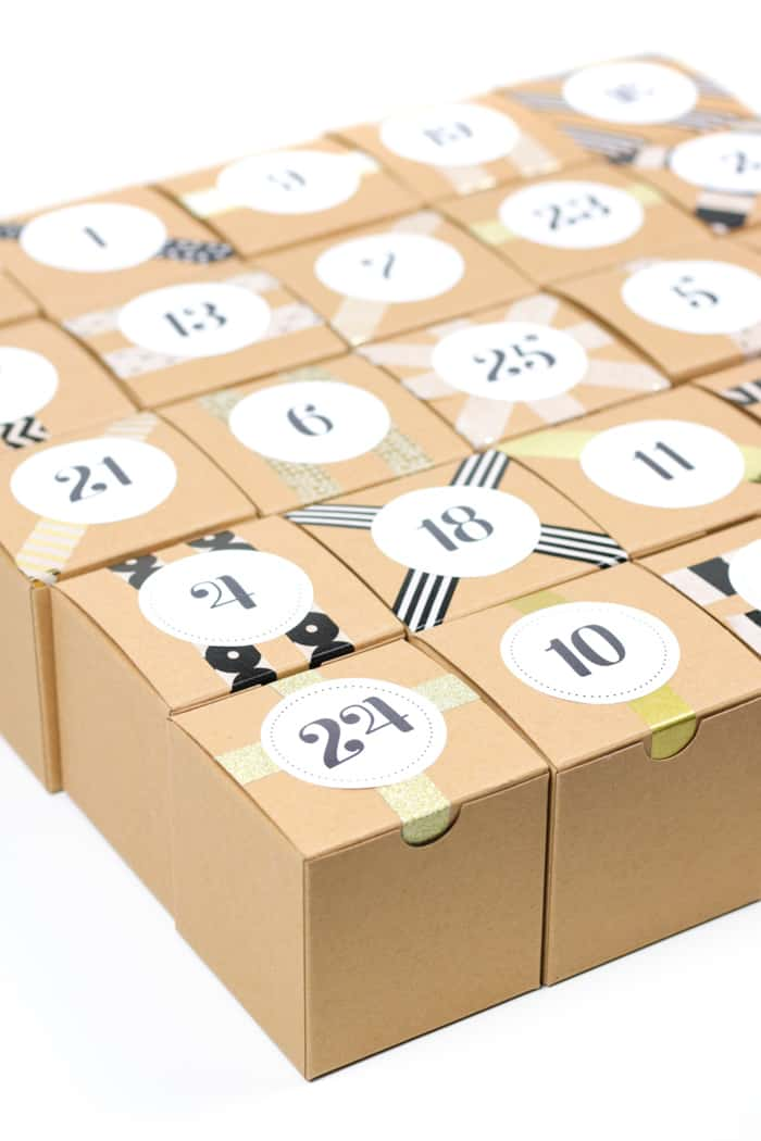 Count down to Christmas with a DIY Booze Advent Calendar! Filled with 25 mini liquor bottles, this project makes the perfect holiday gift for a friend who loves making cocktails. Learn how to make your own, with free printable advent calendar labels! (via feastandwest.com)