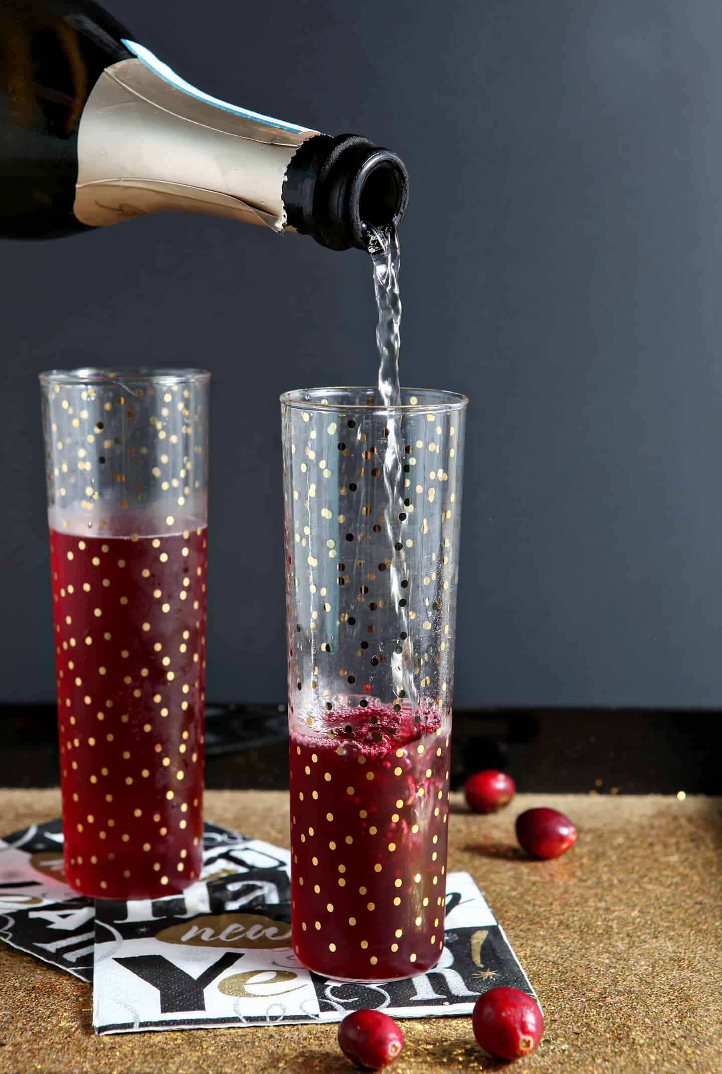 Cranberry Bellinis by The Speckled Palate