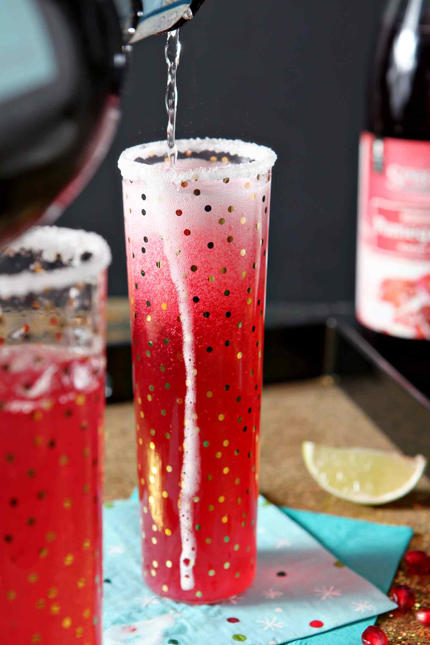 Pomegranate French 75by The Speckled Palate