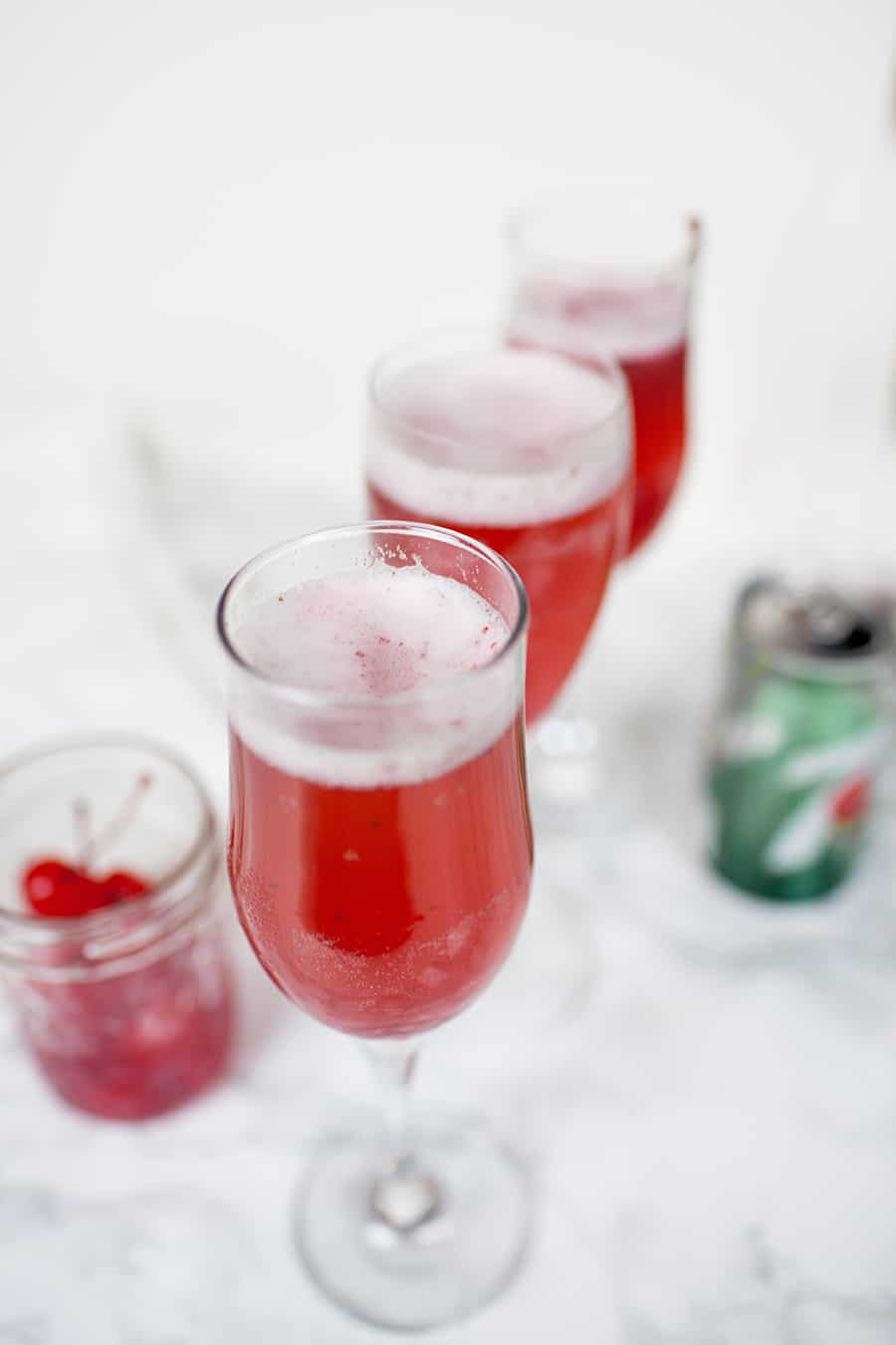 Cherry Sorbet Bellinis from A Joyfully Mad Kitchen