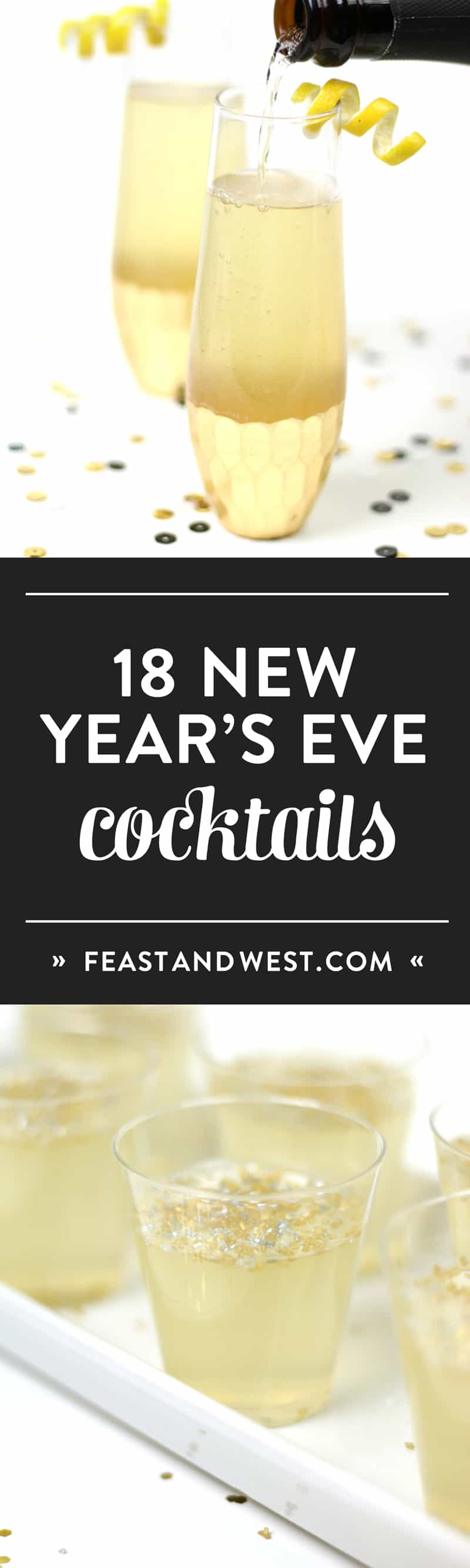 Plain bubbly is boring. Here are 18 New Year's Eve champagne cocktails worthy of a midnight toast! (via feastandwest.com)