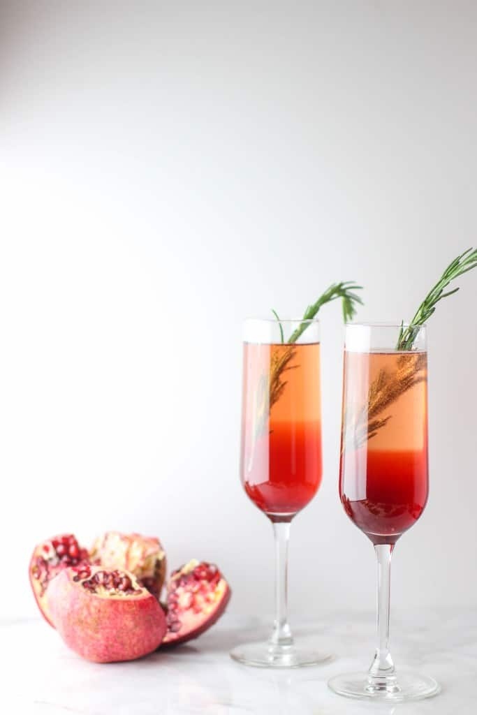 Pomegranate Rosemary Spritzer from The Culinary Compass