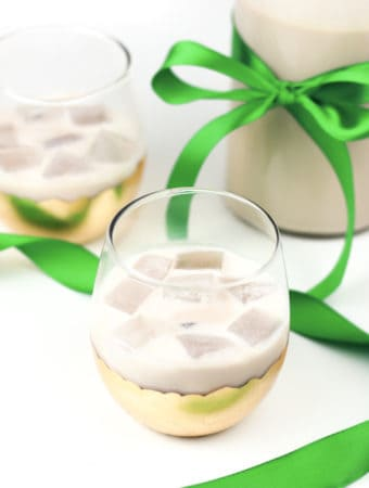 Homemade Irish Cream Liqueur makes an amazing gift, and tastes just like the real thing! Perfect for celebrating St. Patrick's Day or enjoying a nightcap anytime. (via feastandwest.com)