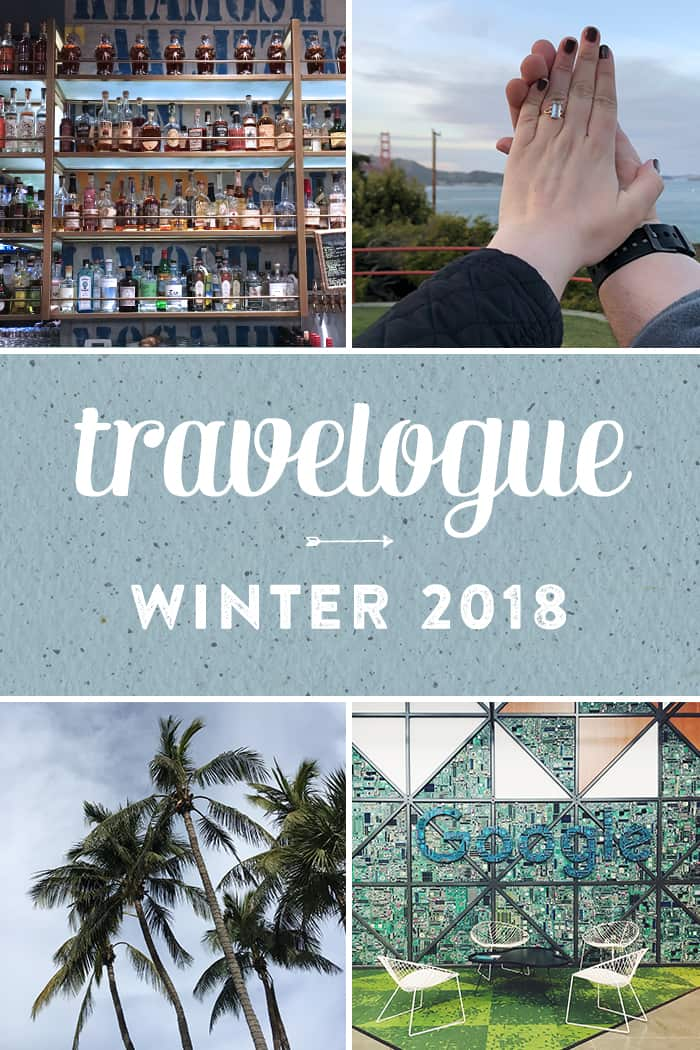 Here's my Winter Travelogue! Have a look at the things I did, ate, drank and saw over the last few months on my trips around the Carolinas and to Miami, Nashville and San Francisco!