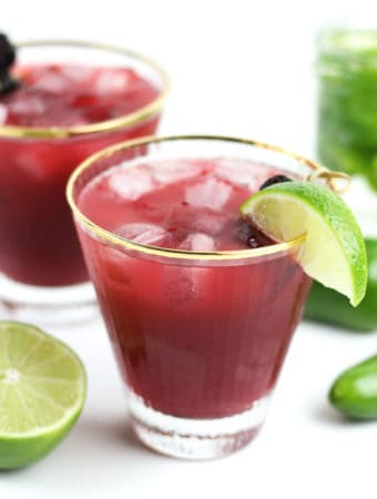 Spicy Jalapeño Blackberry Margaritas really hit all the taste buds so you can savor ever single sip. Make it with homemade jalapeño-infused tequila and tailor them with your desired amount of heat. Cheers to summertime! (via feastandwest.com)