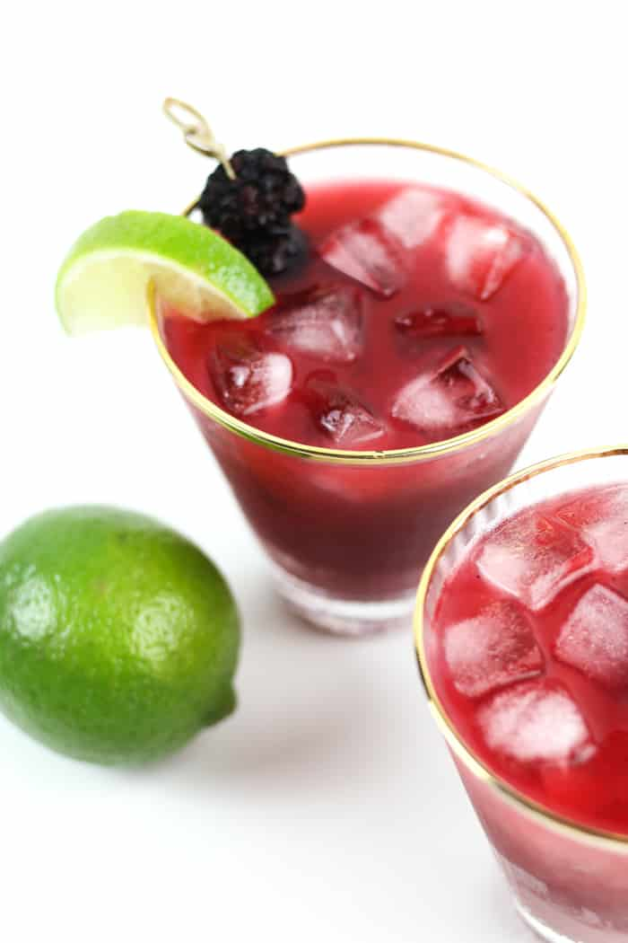 the best margarita recipes -- jalapeno blackberry margaritas