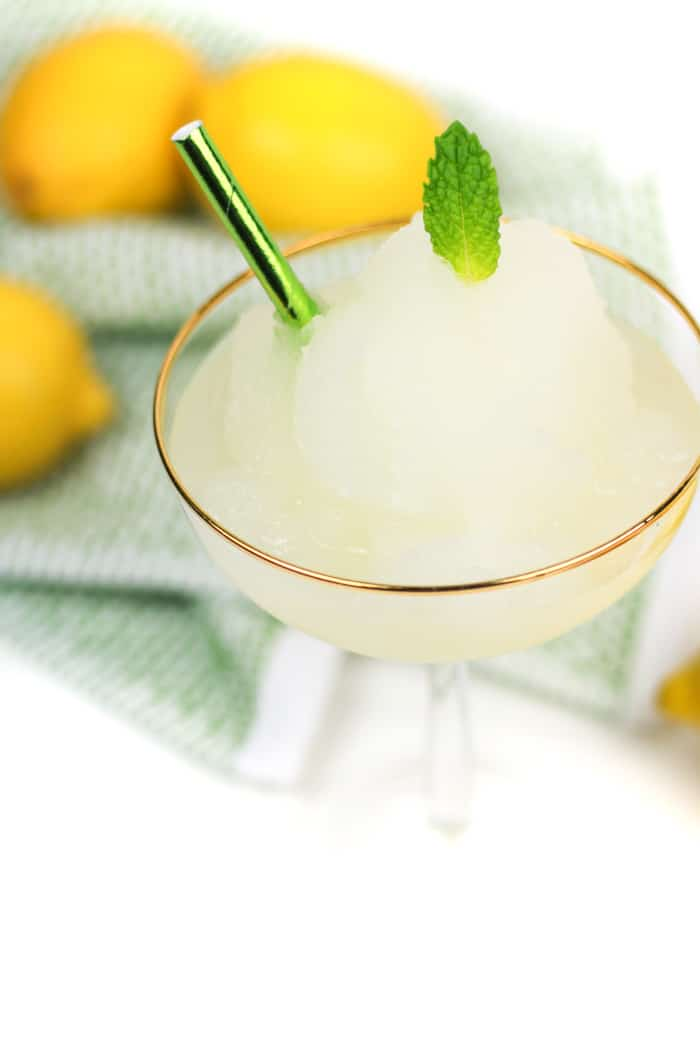 Beat the heat this summer with Frozen Lemon Daiquiris reminiscent of the New Orleans classic cocktail. Sweet and tart, this citrus and rum cocktail is like a fresh frozen lemonade. (via feastandwest.com)
