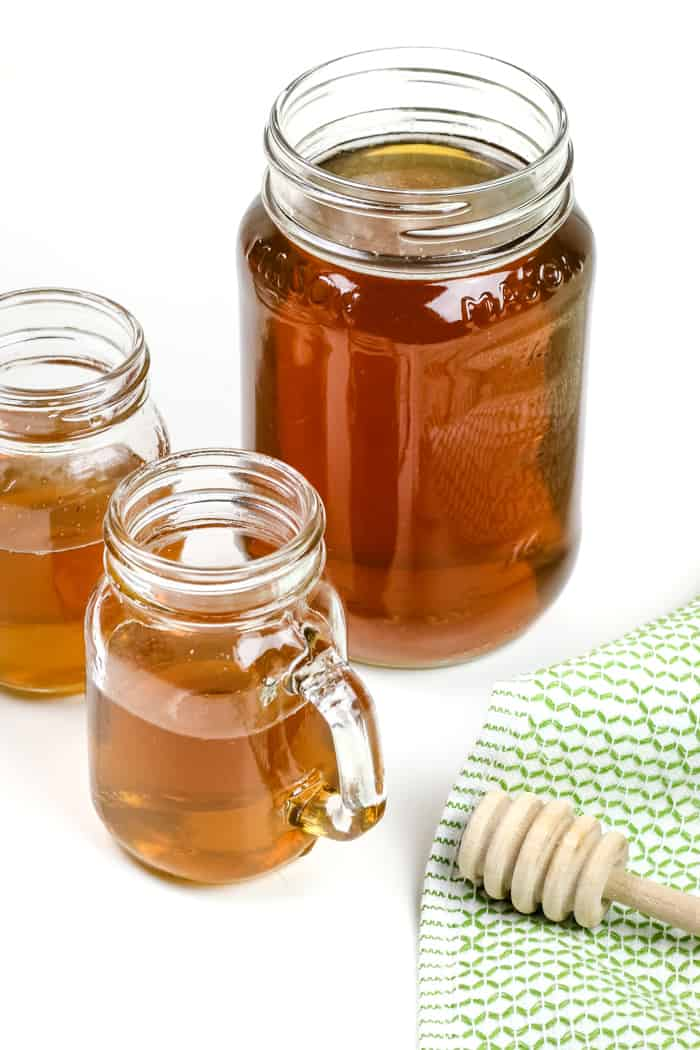 Make Homemade Honey Whiskey liqueur that tastes even better than store-bought. Sip it on the rocks or use it to make hot toddies and other whiskey cocktails. (via feastandwest.com)