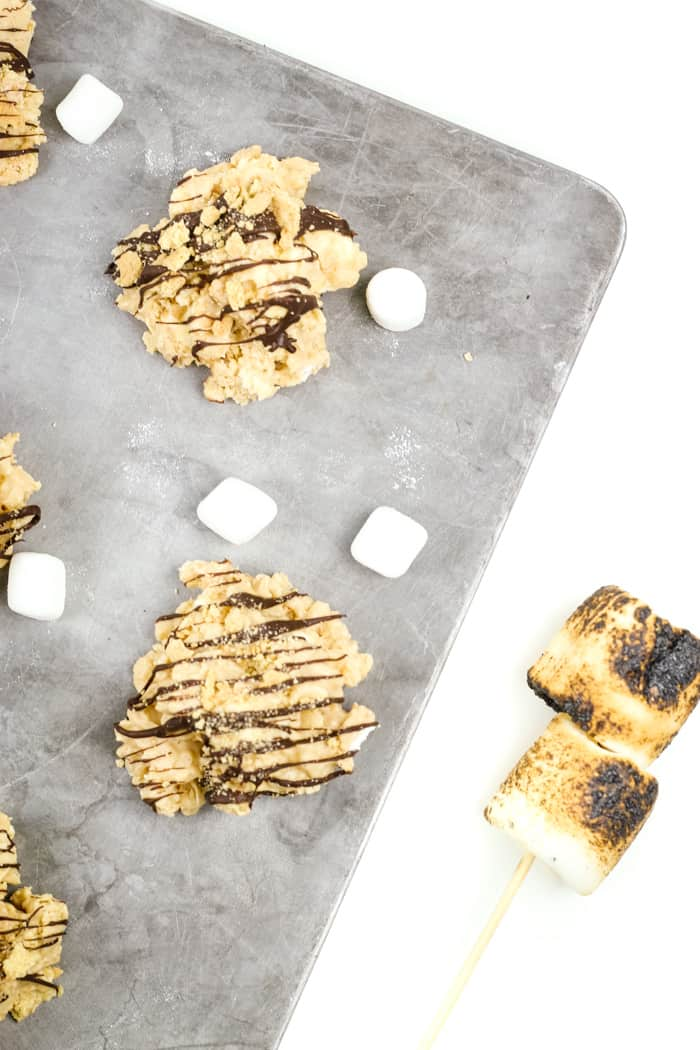 S'mores Avalanche Cookies are a quick and easy cookie you can make anytime. Whether for a holiday cookie tray or a summer camp treat, these no-bake desserts bring all the flavors of the campfire without the fire!(via feastandwest.com)