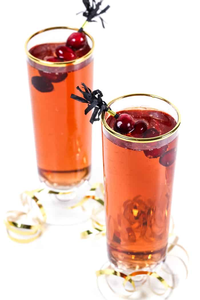 For that in-between time between Christmas and New Year's, enjoy a Poinsettia Champagne Cocktail! Equal parts both holidays, this sparkling cranberry cocktail is worth toasting the holidays with. (via feastandwest.com)