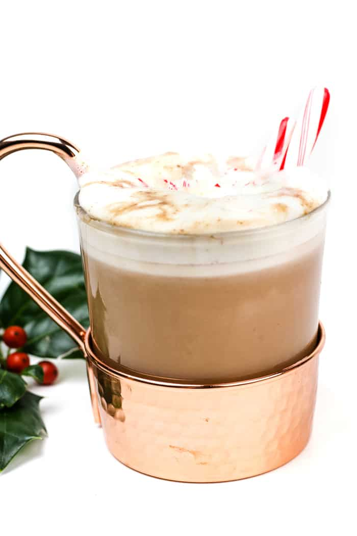 Warm up a winter evening with a mug of Spiked Peppermint Hot Chocolate. Featuring homemade peppermint vodka, this easy minty hot cocoa drink is made on the stove with real chocolate. (via feastandwest.com)