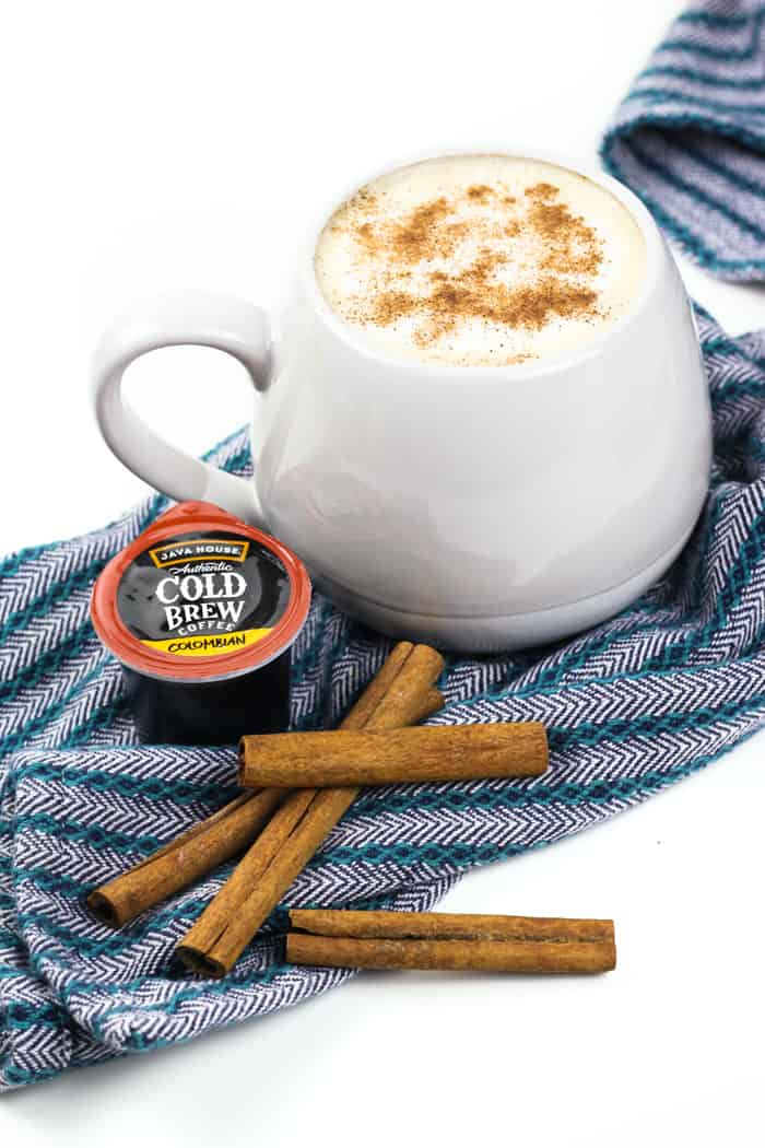 Kick back with a Cinnamon Bun Latte next time you need an afternoon pick-me-up. Cinnamon and a hint of vanilla pair flawlessly with coffee and cream in this delightfully delicious drink. (via feastandwest.com)