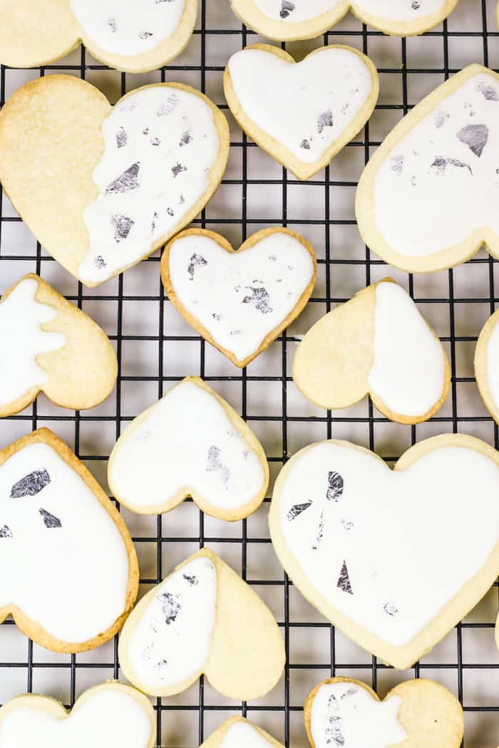 Show someone you love them with a batch of Heart-Shaped Sugar Cookie Cutouts with Royal Icing and Edible Silver leaf. They're sweet and sparkly, and would make a great gift or activity to do together! (via feastandwest.com)