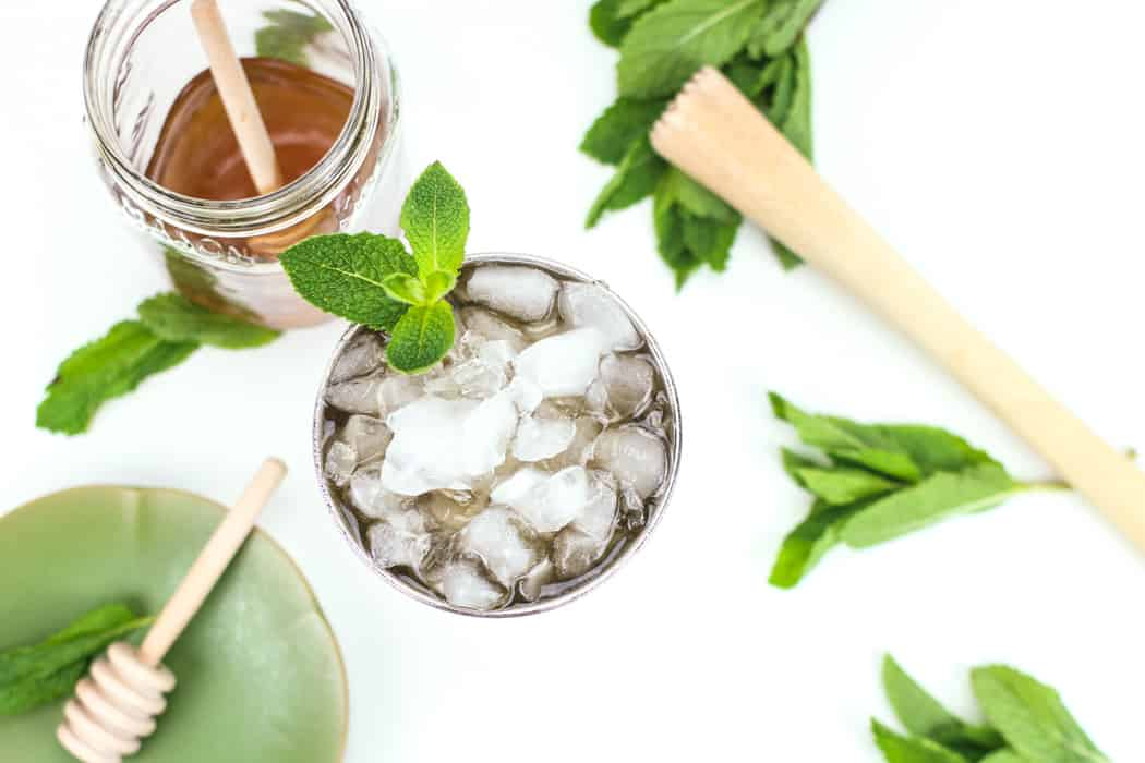 The Kentucky Derby is Saturday, so get out your fanciest hat and plan to make a Honey Whiskey Mint Julep to celebrate. It's sweet, minty and ice cold for a hot day! (via feastandwest.com)