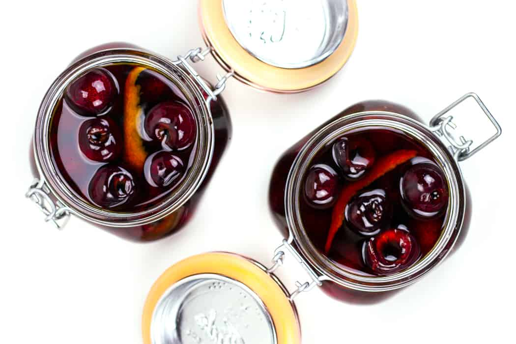 Homemade cocktail cherries are just the thing your bar needs. From old-fashioneds to manhattans, these boozy fruits beat out the neon maraschino cherries for the best cocktail garnish. (via feastandwest.com)