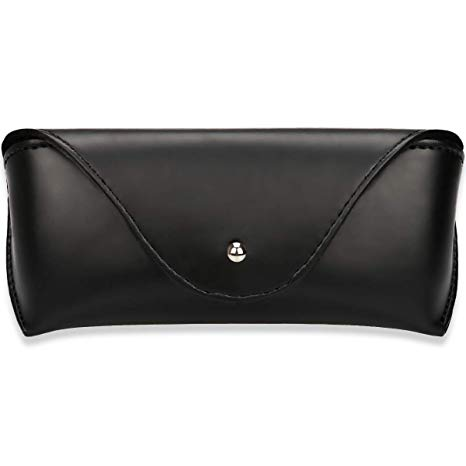 Portable Leather Glasses Case