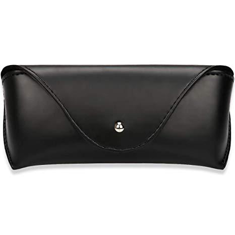 Portable Leather Glasses Case