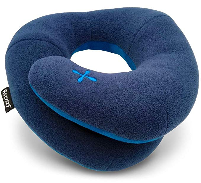 BCOZZY Travel Pillow with Neck and Chin Support