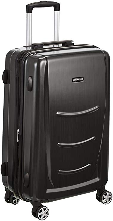 AmazonBasics Hardshell Spinner Luggage, Slate Grey