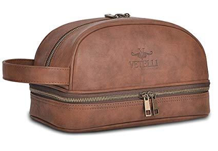 Vetelli Leather Toiletry Bag