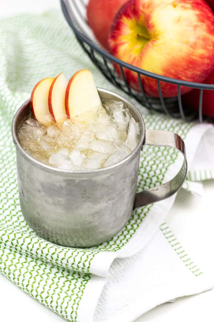 Say cheers to the holidays with an Apple Cider Moscow Mule! This light yet festive cocktail is a treat for Thanksgiving and Christmas entertaining, but just as nice for enjoying at home on an autumn night!