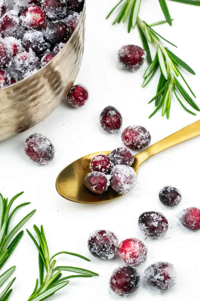 Sugared Cranberries are a statement dish for your holiday menu. Serve them with a cheese board or as a cocktail garnish! Your friends will ohh and ahh over this easy recipe. (via Feast + West)