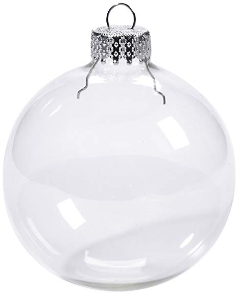 Clear Glass Ball Ornament