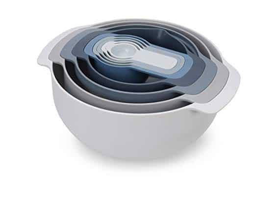 Joseph Joseph 9-Piece Nesting Mixing Bowls