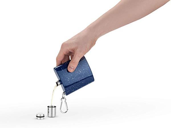 Foster& Rye Enamel Carabiner Flask