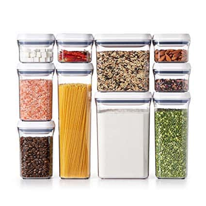 OXO Good Grips 10-Piece Airtight Food Storage POP Container Set