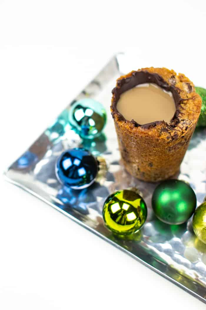 Chocolate Chip Cookie Shots with Irish Cream Liqueur and Coffee Liqueur
