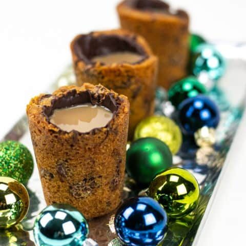 Chocolate Chip Cookie Shots for Christmas