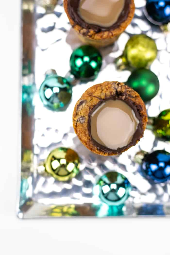 Chocolate Chip Cookie Shot with Irish Cream Liqueur and Coffee Liqueur