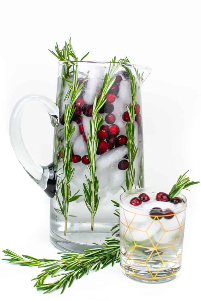 Pitcher of Christmas Spa Water