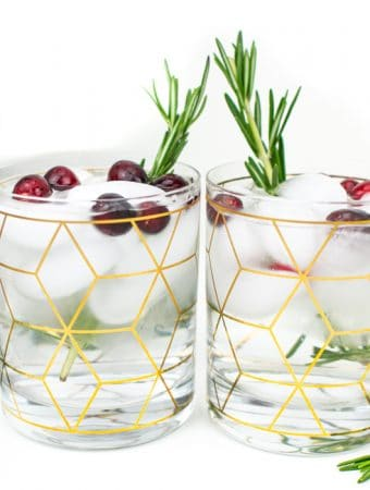 Glasses of Christmas Spa Water