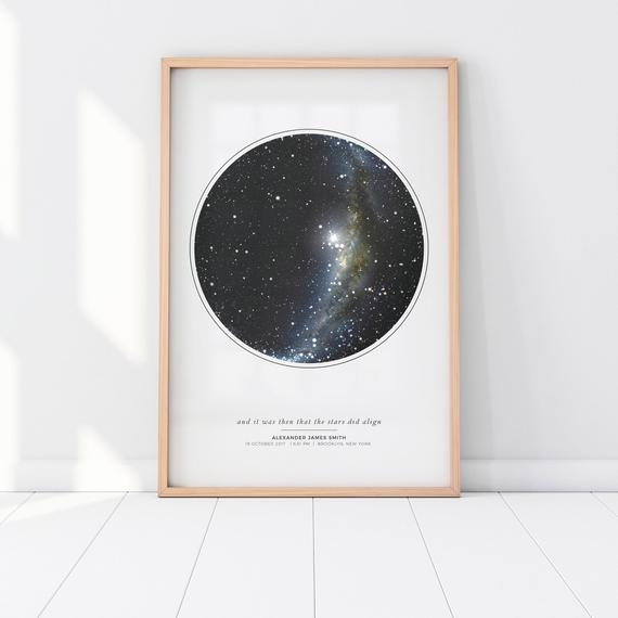 Personalized Star Map Gift by JustArtinAround