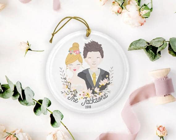 Customized Just Married Ornament by DesignGypsee