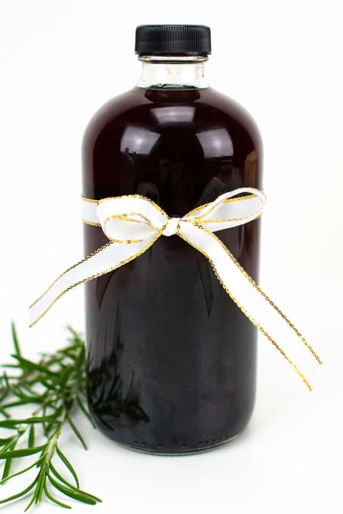 Plum brandy in a bottle