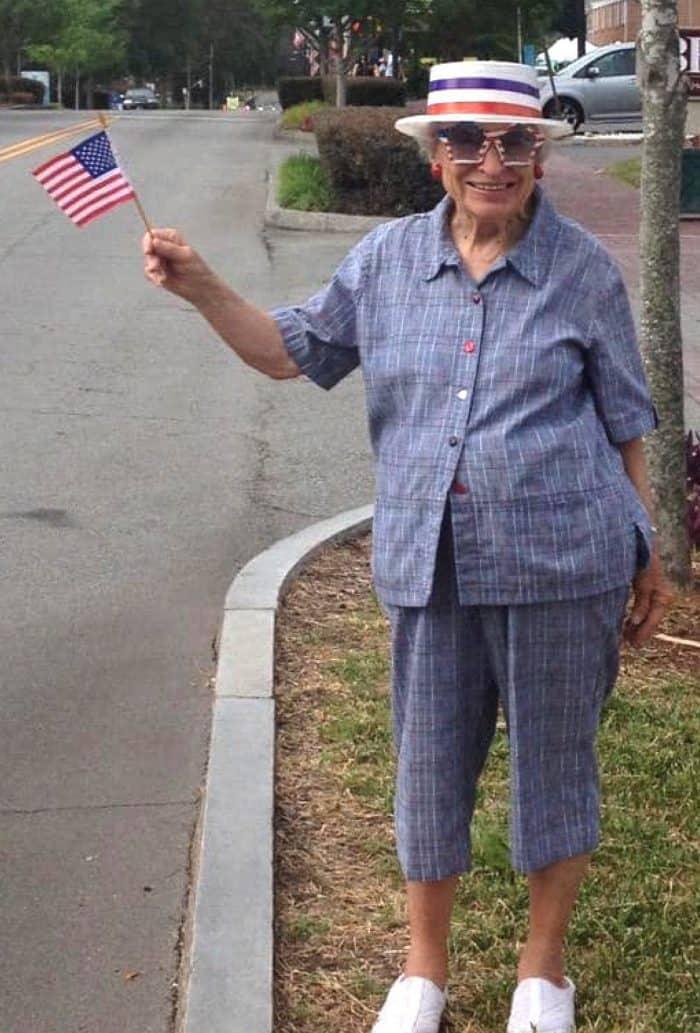 My grandma at a July 4th parade